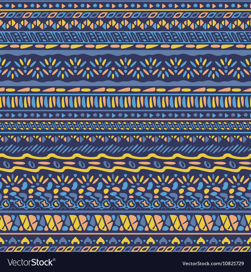 African style pattern with tribal motifs