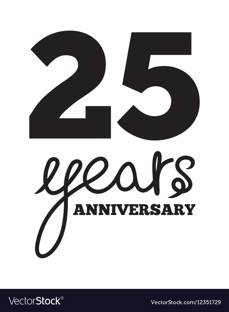 ANNIVERSARY script4 resize vector image