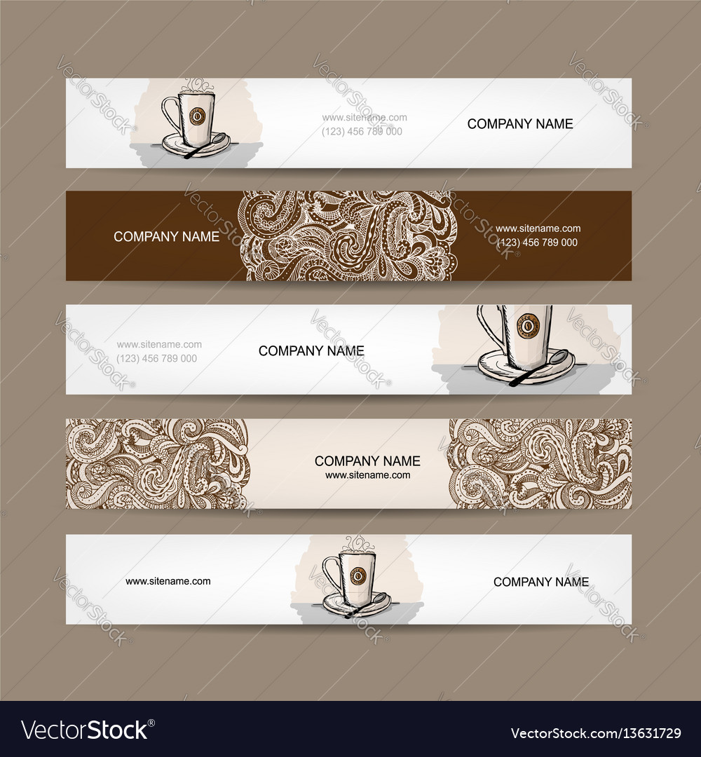 Banners design with coffee cup