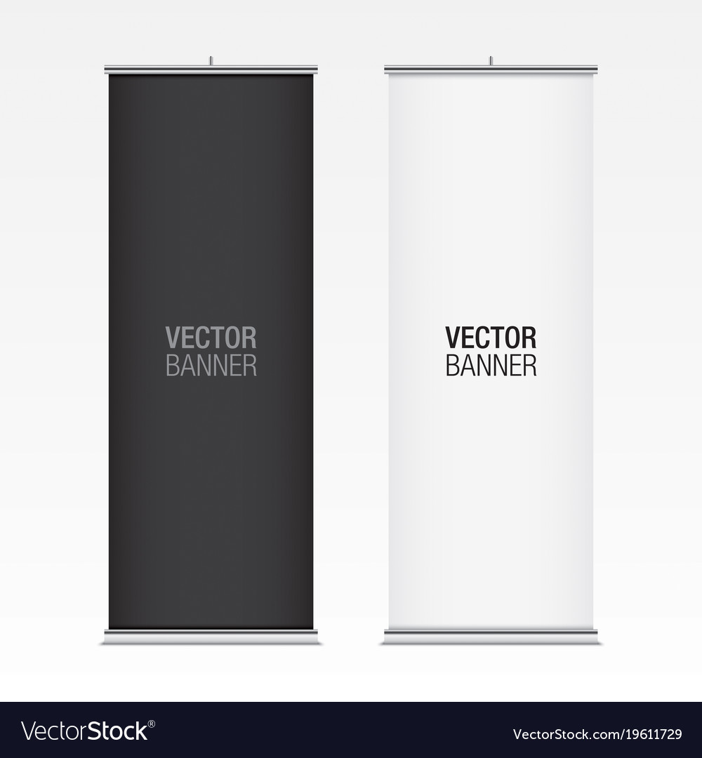 black and white vertical banner mockups royalty free vector
