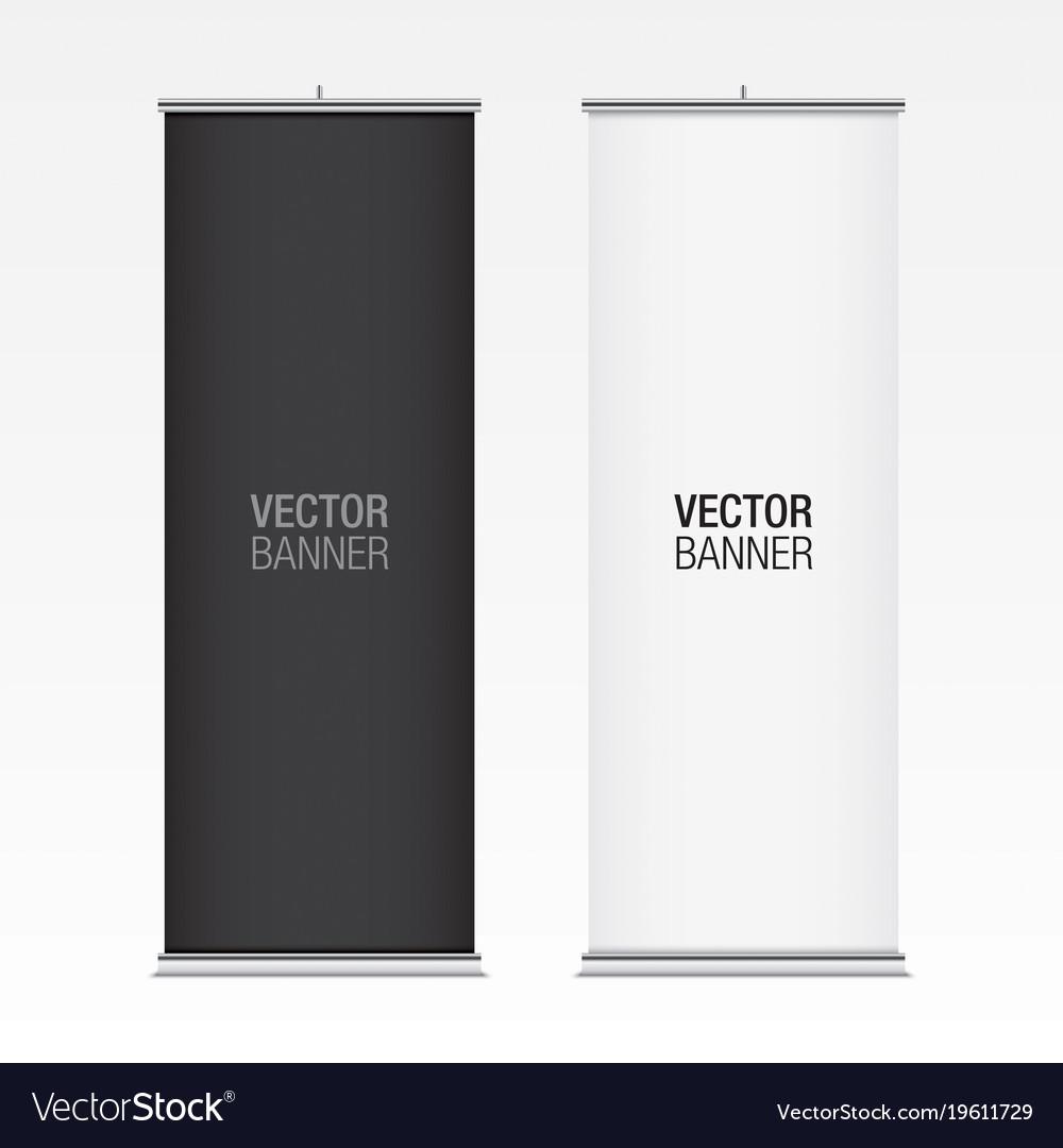 Black and white vertical banner mockups