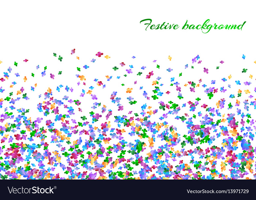 celebration background with confetti royalty free vector