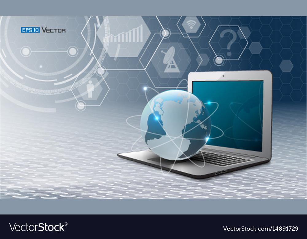 Computer world and simbols