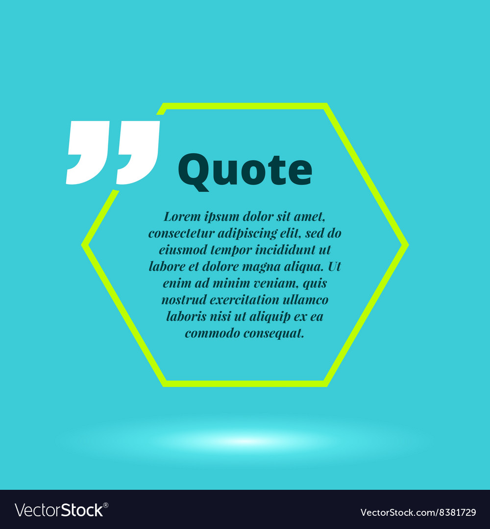 Moderrn quote blank template concept