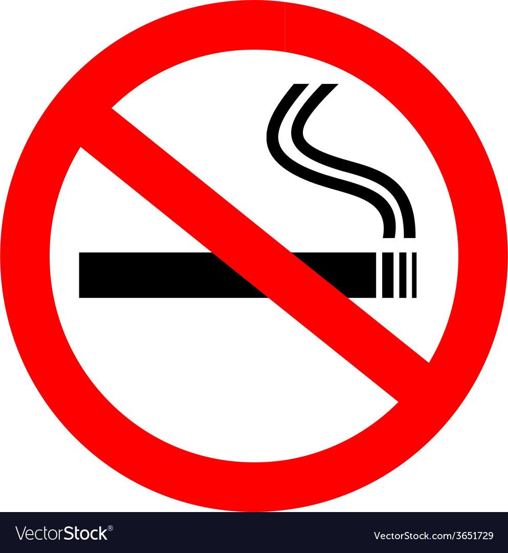 no smoking royalty free vector image vectorstock rh vectorstock com no smoking vector free download no smoking vector image