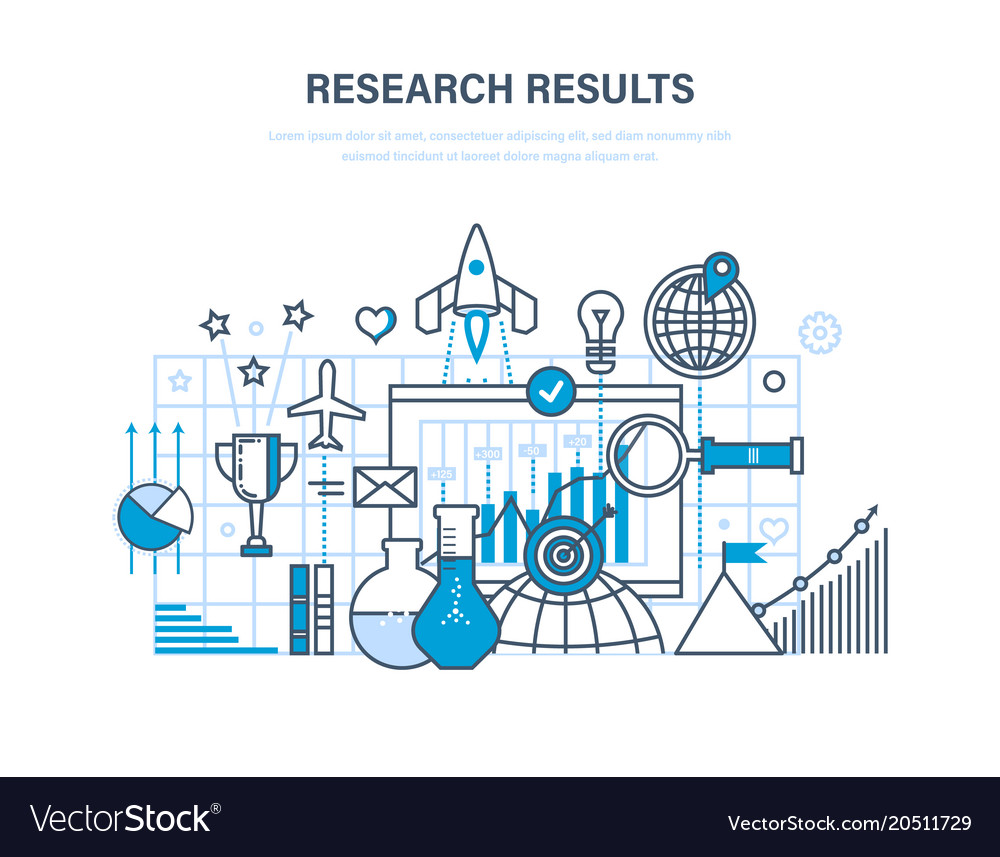 Research results marketing research data vector image