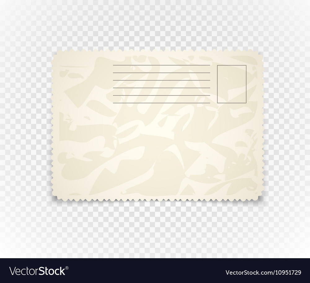 vintage postcard on transparent background vector image
