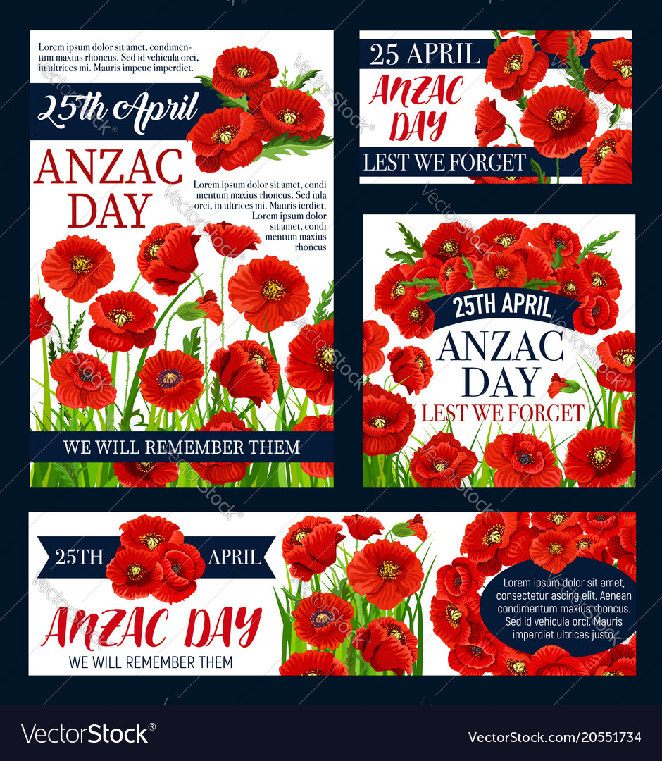 Anzac day australian lest we forget posters