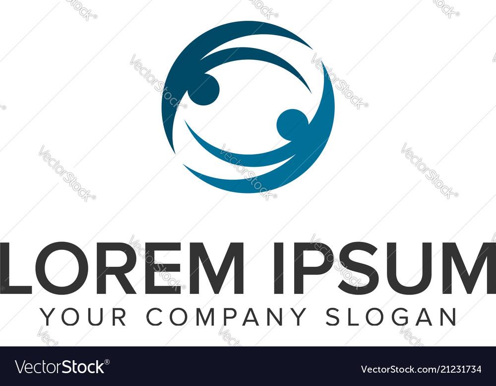 Business partner logo design concept template