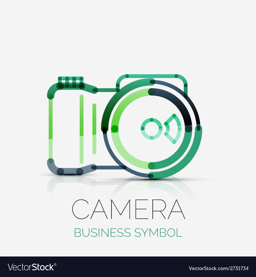 Camera icon company logo business symbol concept