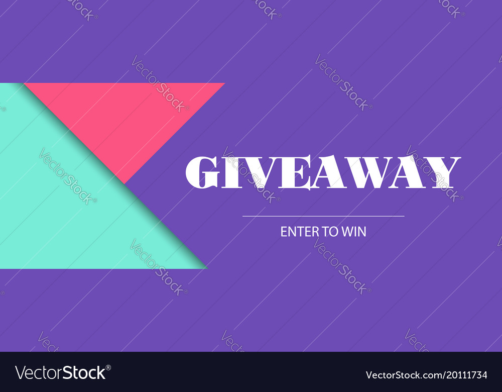 Giveaway Banner Template Facebook Cover Size Vector Image