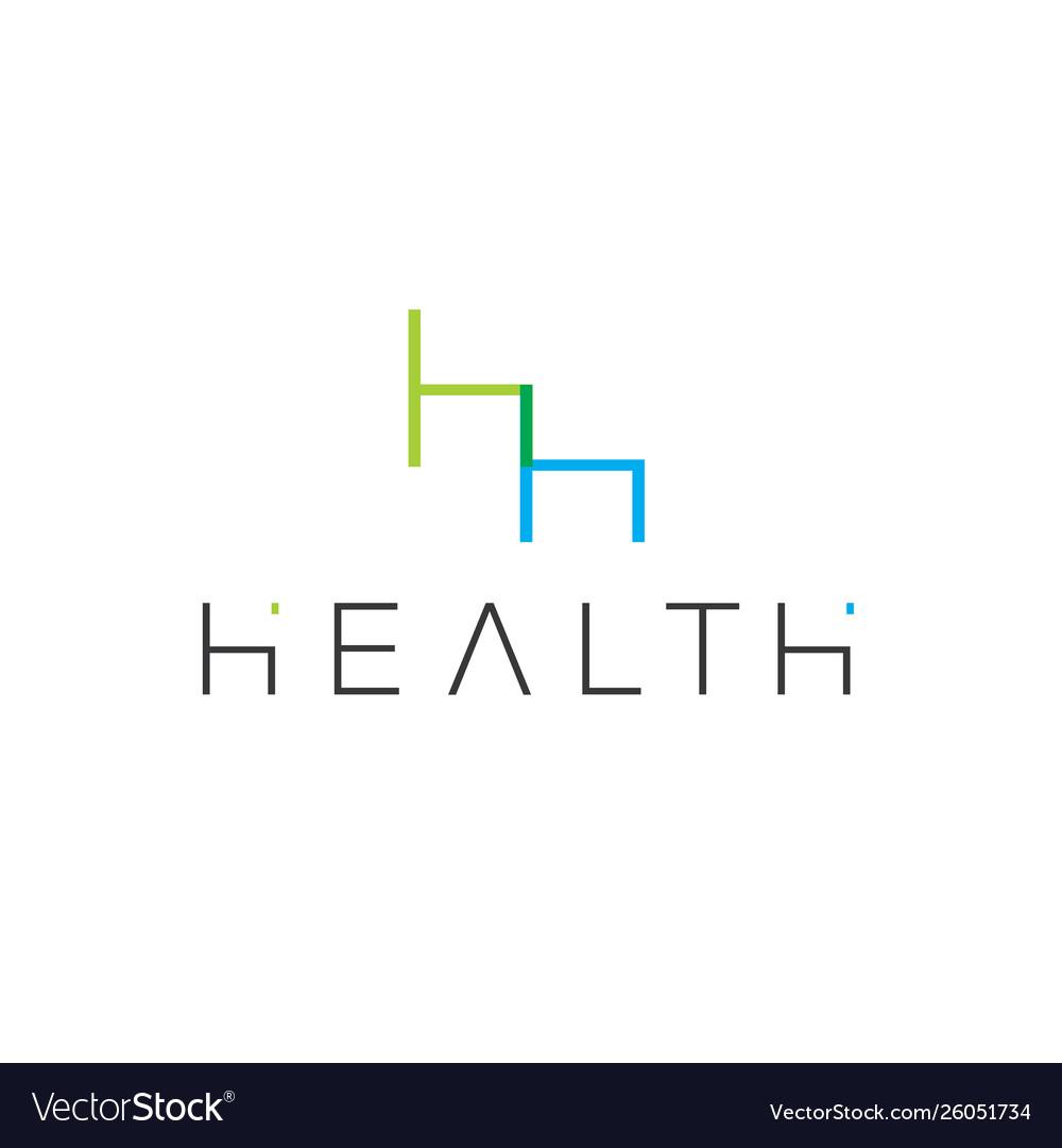 H letter logo architecture emblem