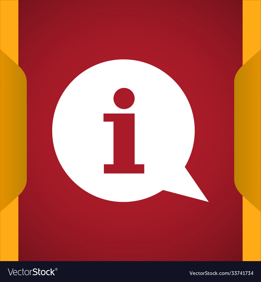 Info with bubble speech icon
