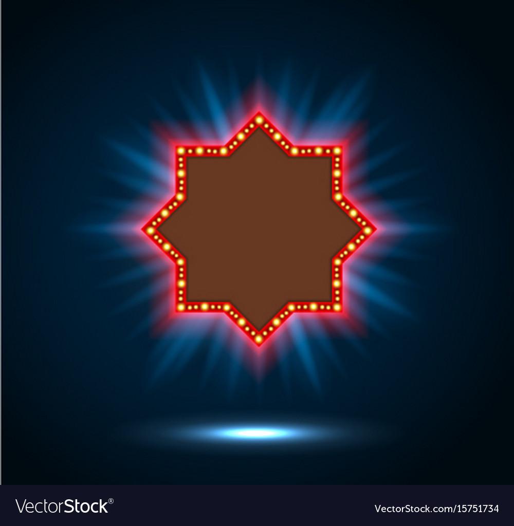 Shining spotlight on billboard sign
