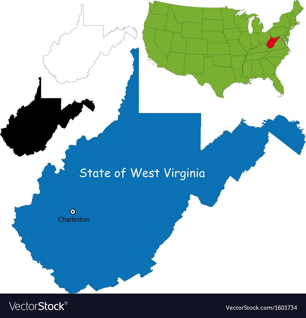 West Virginia Map Royalty Free Vector Image Vectorstock