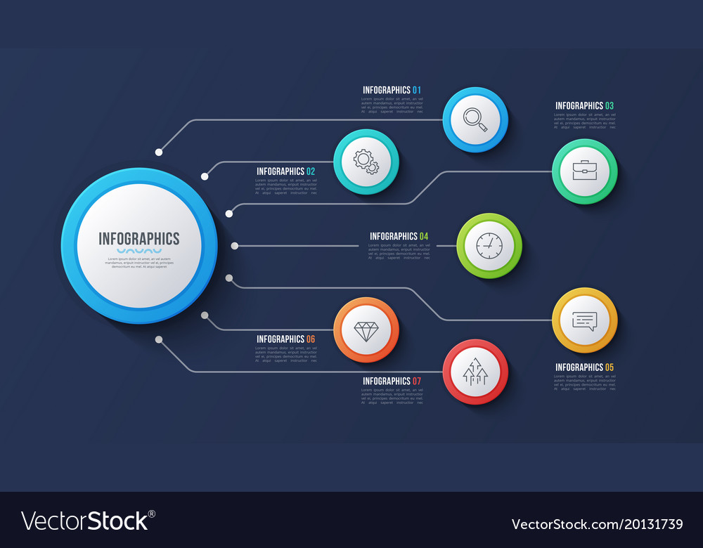 7 options infographic design structure