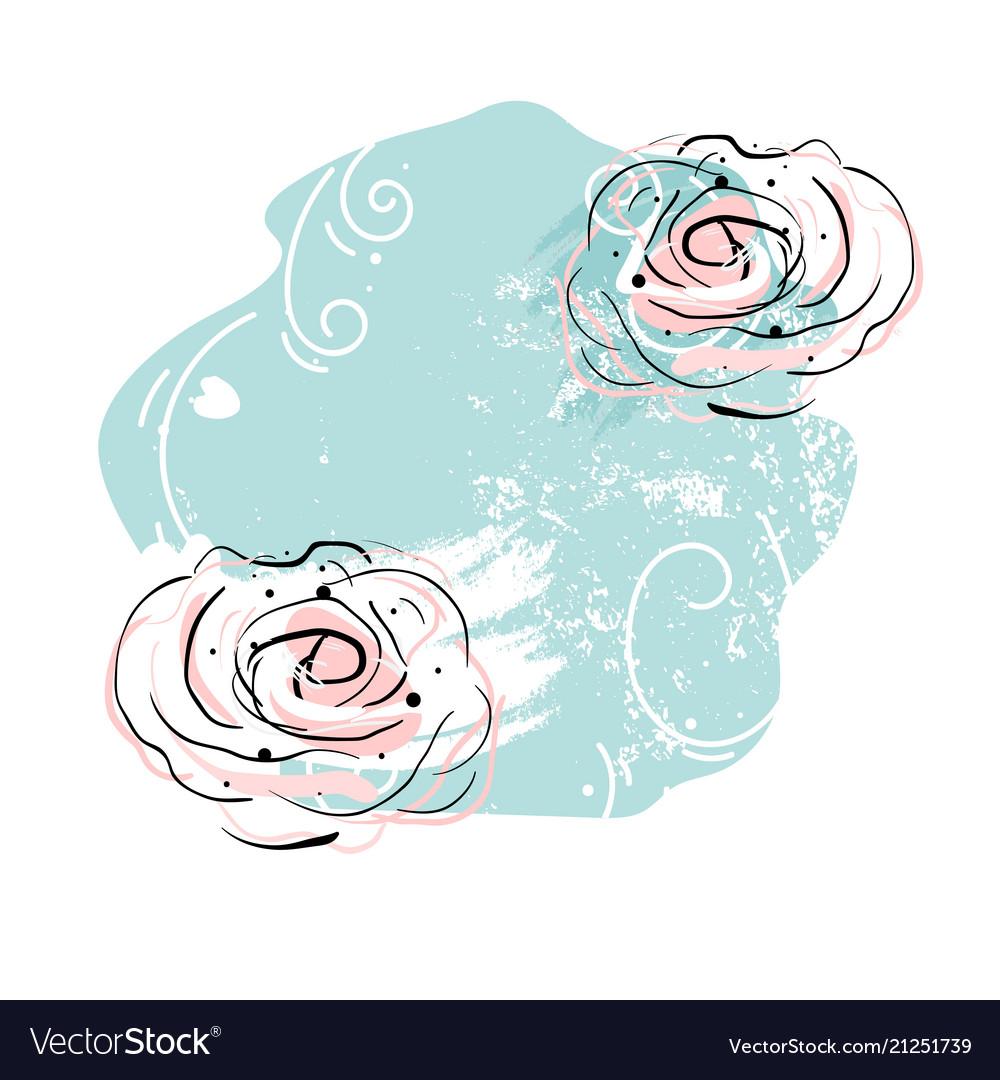 Abstract romantic decor print