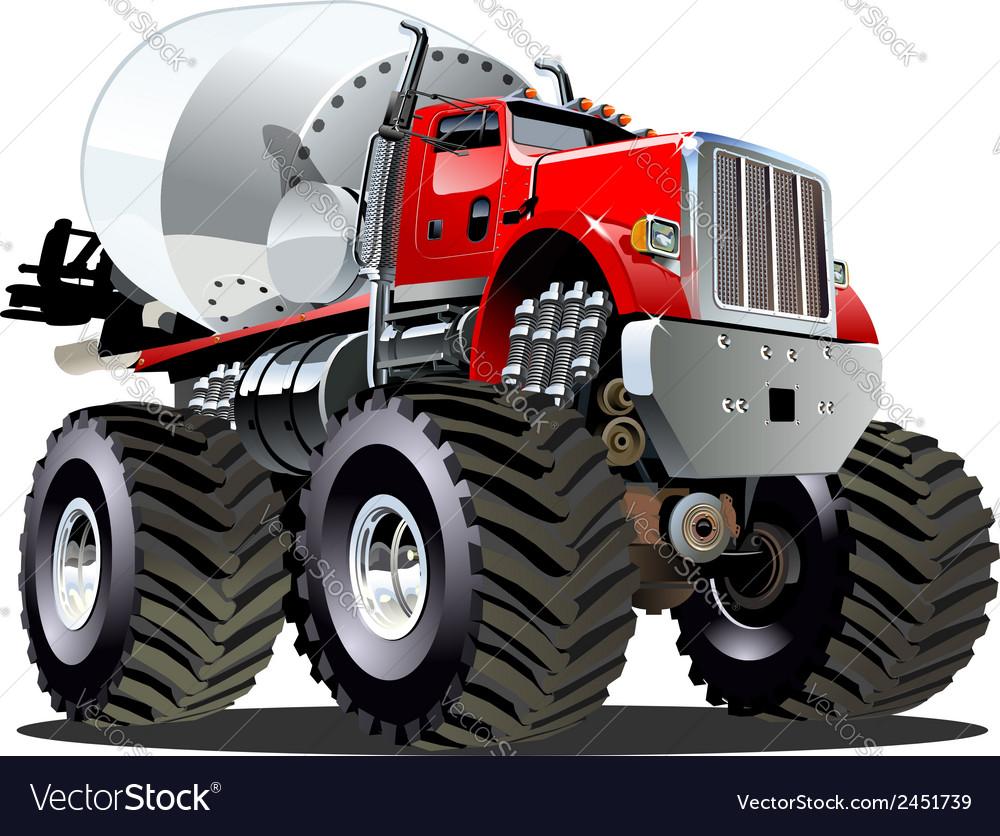 Cartoon Mixer Monster Truck