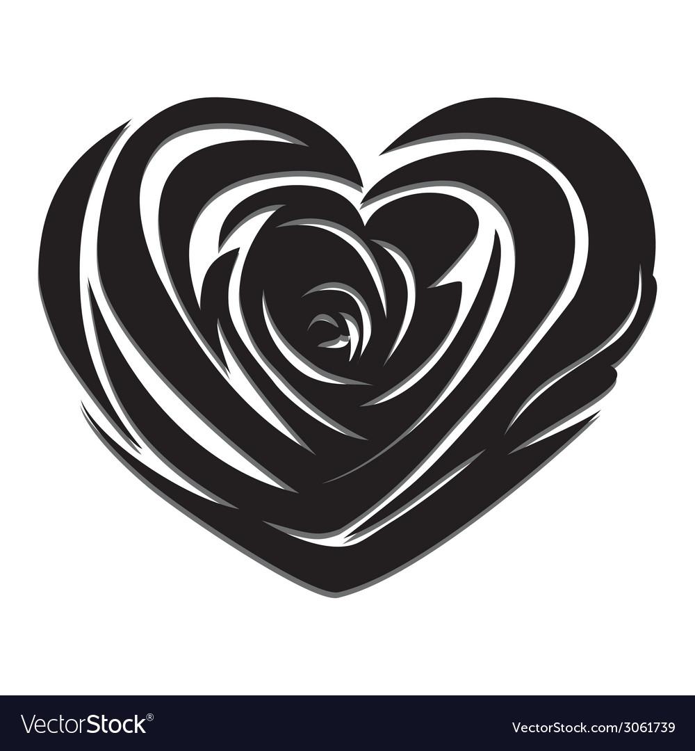 Flower love heart valentine day tattoo