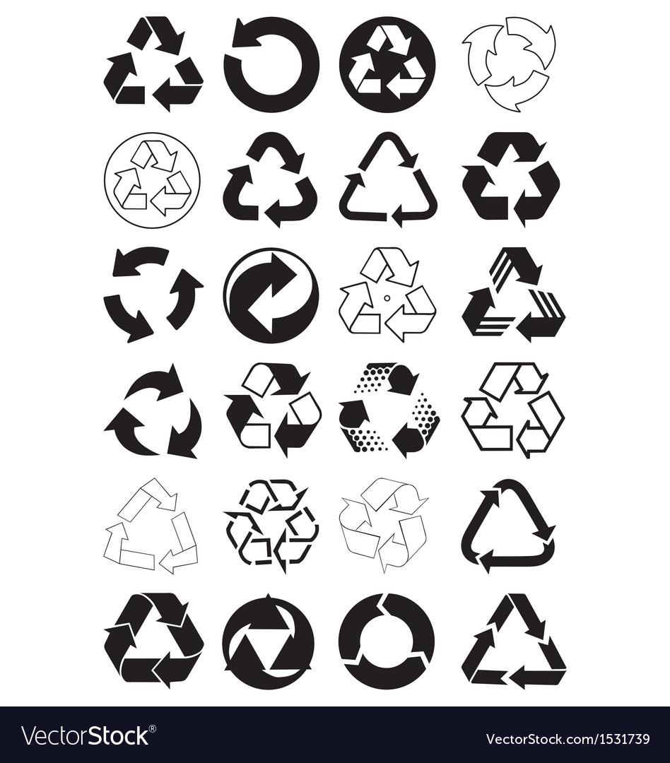 Recycle symbols vector image