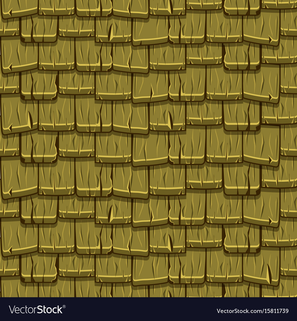 Seamless old green wood roof tiles