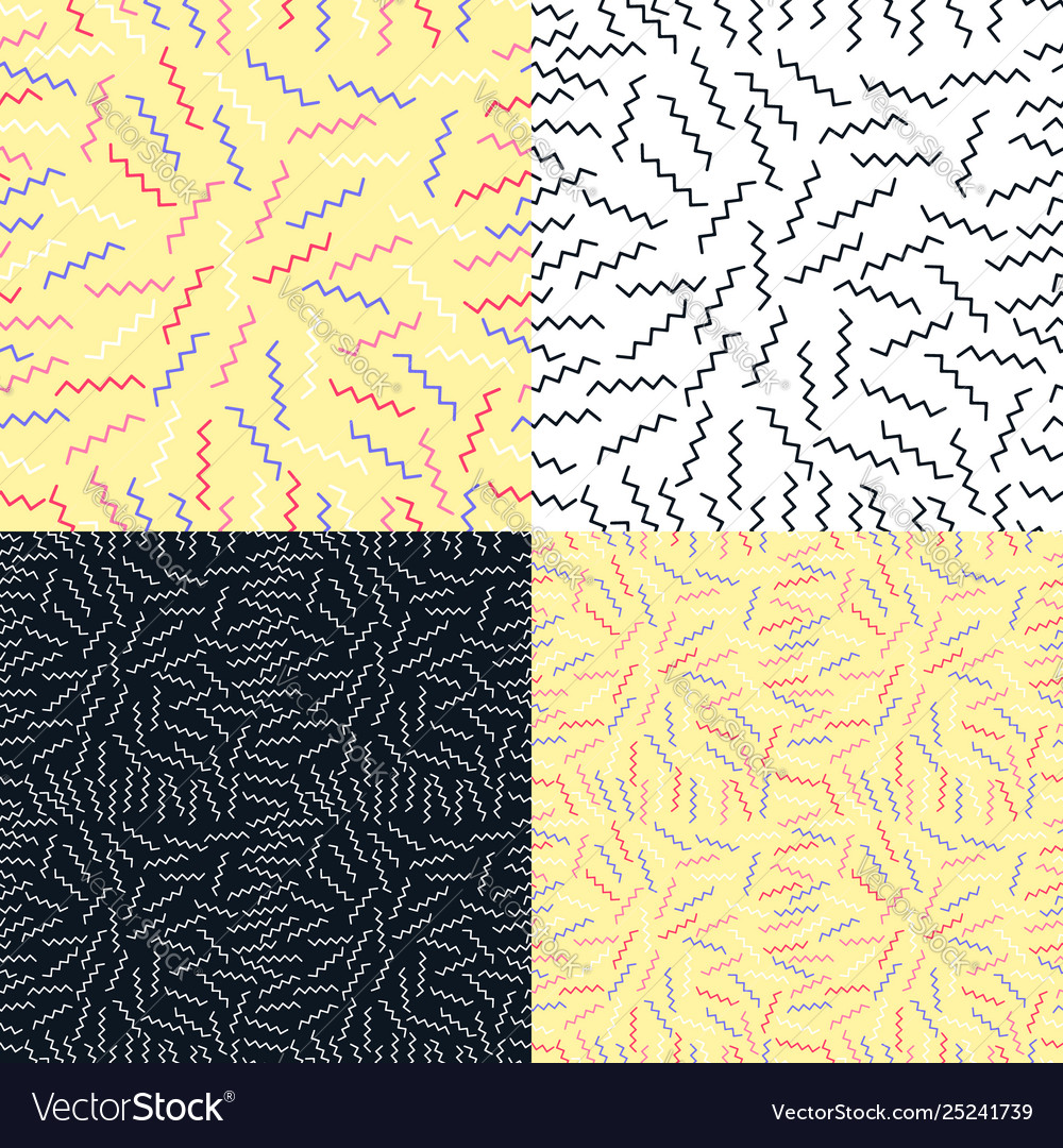 Set seamless pattern background with geometric