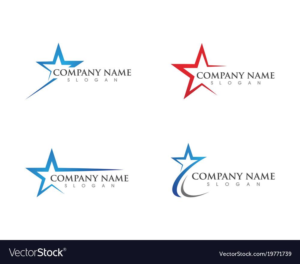 Star Logo Template Royalty Free Vector Image Vectorstock Diagram