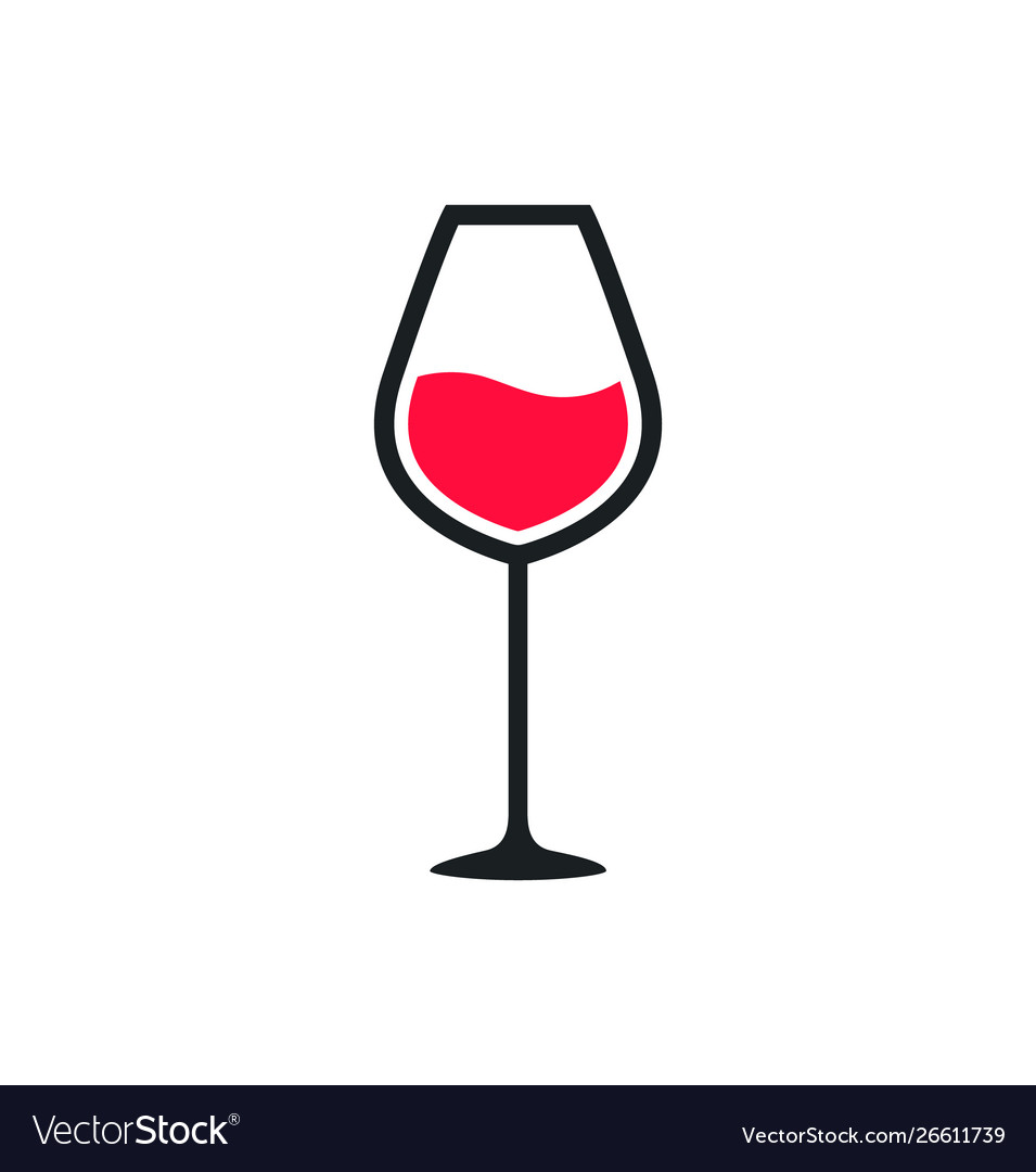Wine glass cup icon red wine symbol pour drink