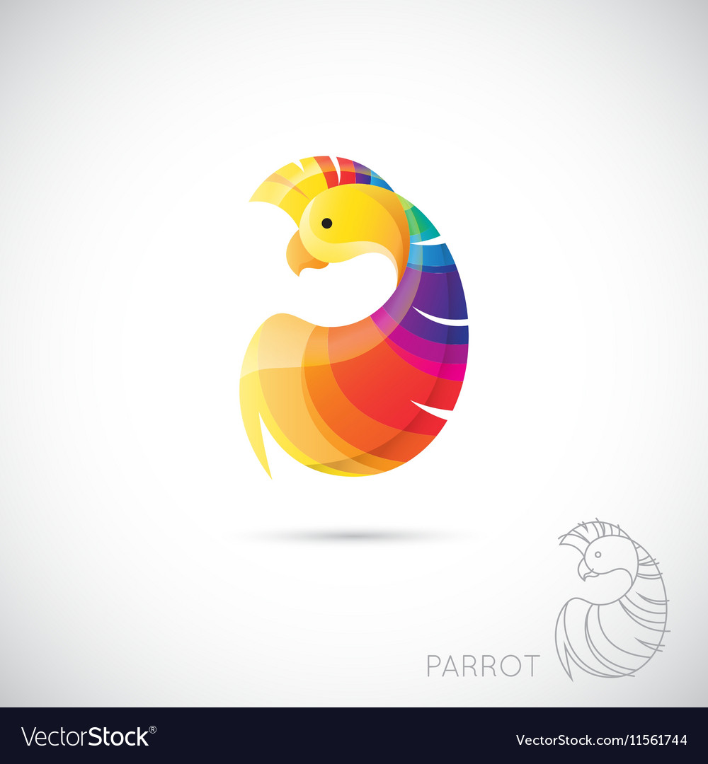 Abstract icon parrot