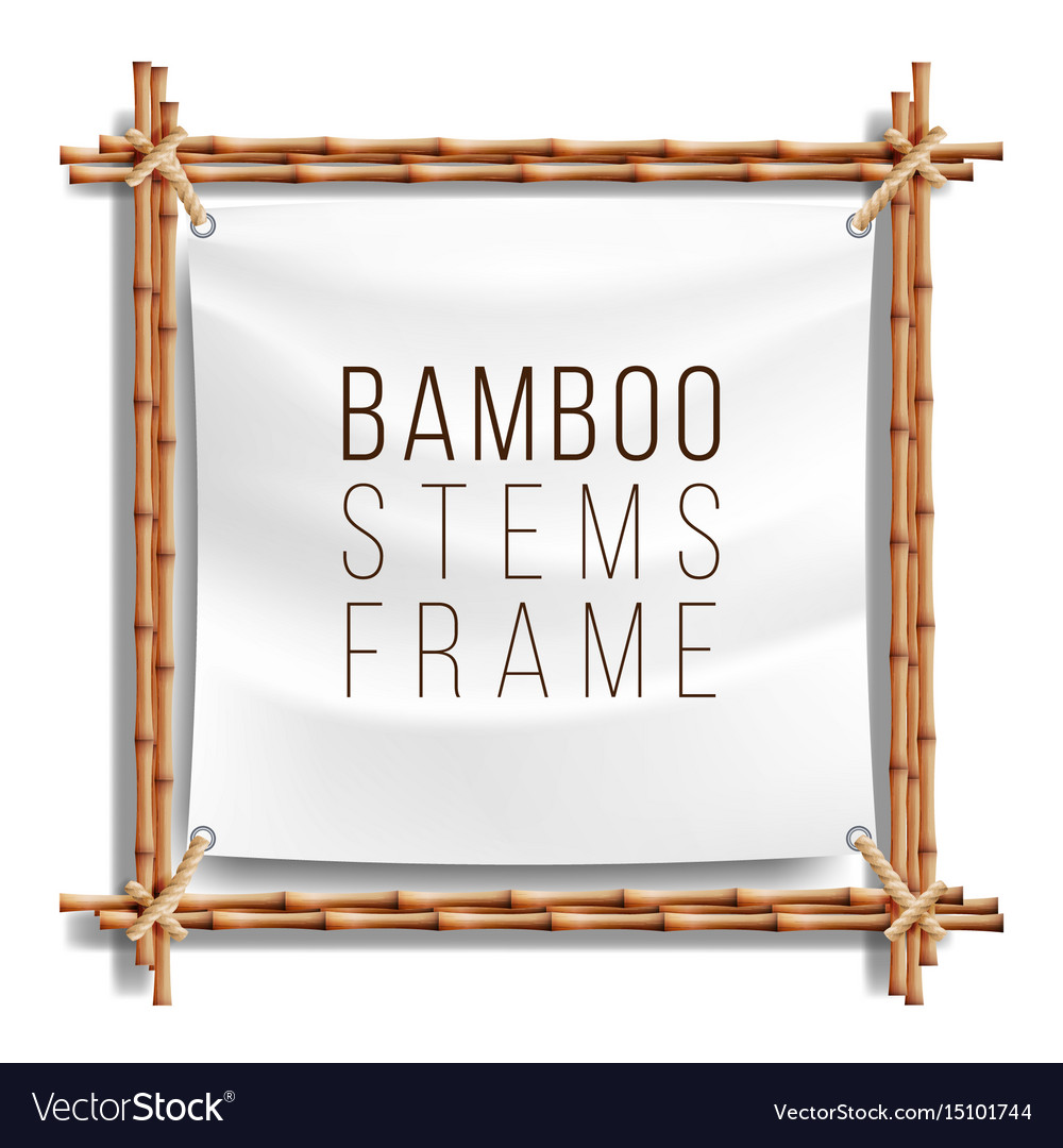 bamboo frame template good for tropical royalty free vector