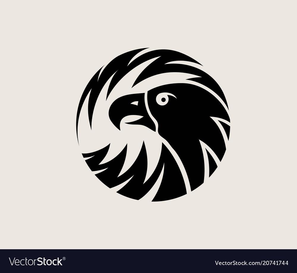 circle eagle logo royalty free vector image vectorstock