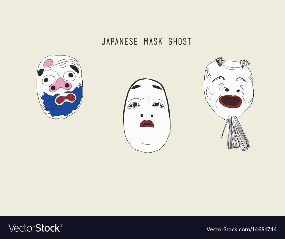 Japanese ghost masks