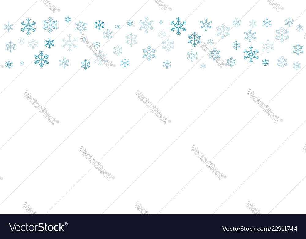 Pattern of snowflakes eps-10
