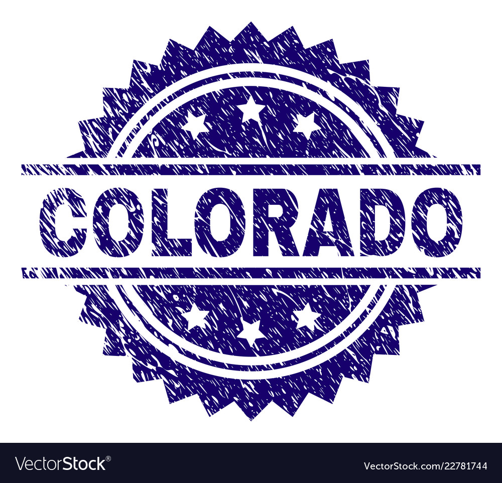 Scratched Textured Colorado Stamp Seal Vector Image
