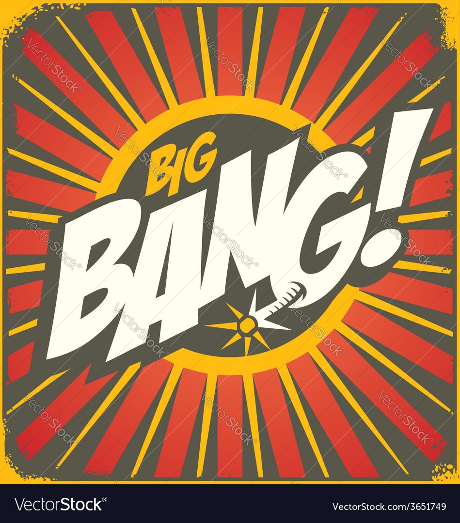 big bang retro sign template royalty free vector image