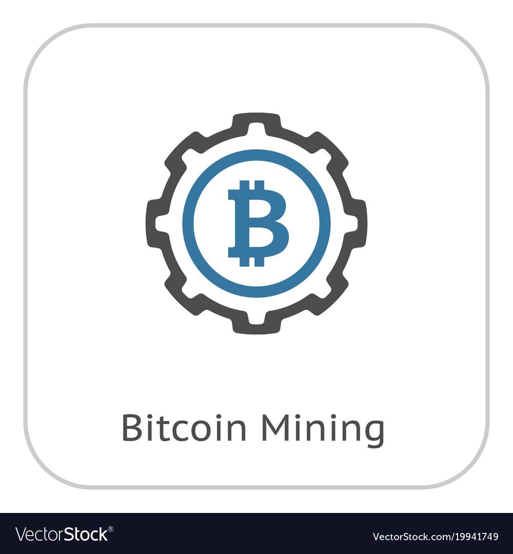 Bitcoin mining icon Royalty Free Vector Image - VectorStock
