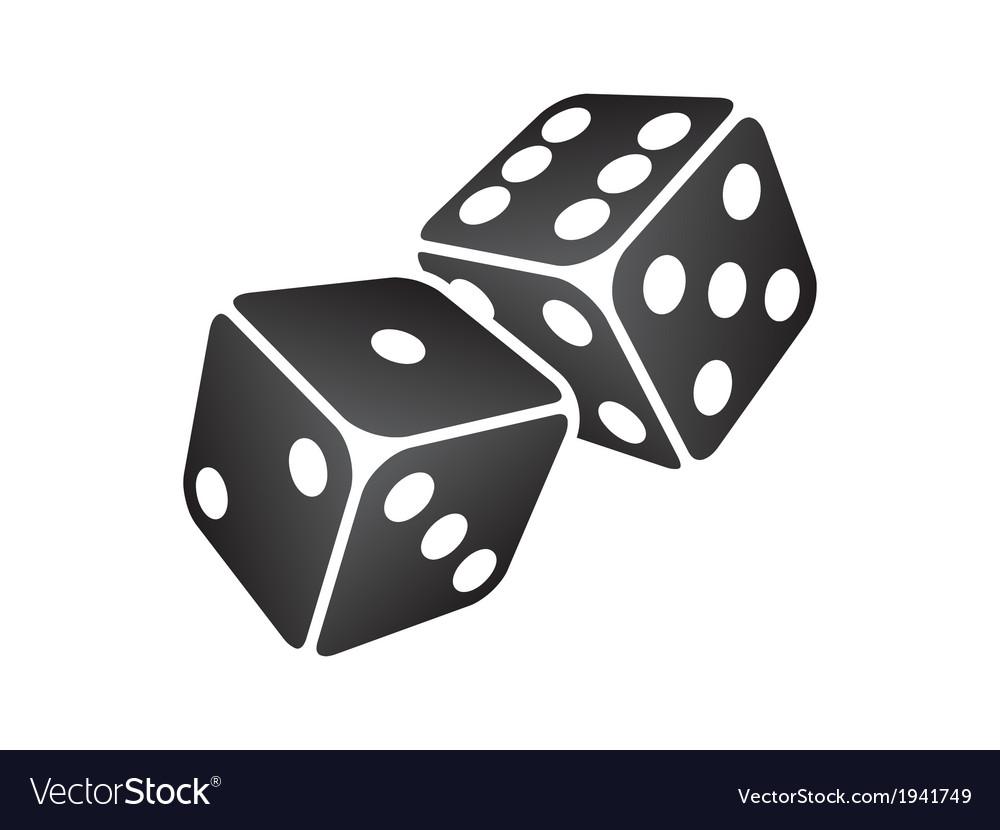 Black dice vector image