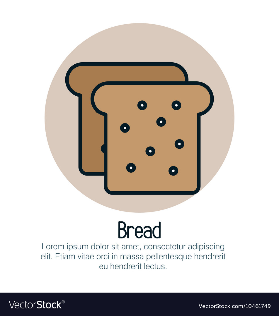 Bread toast isolated icon vector image on VectorStock