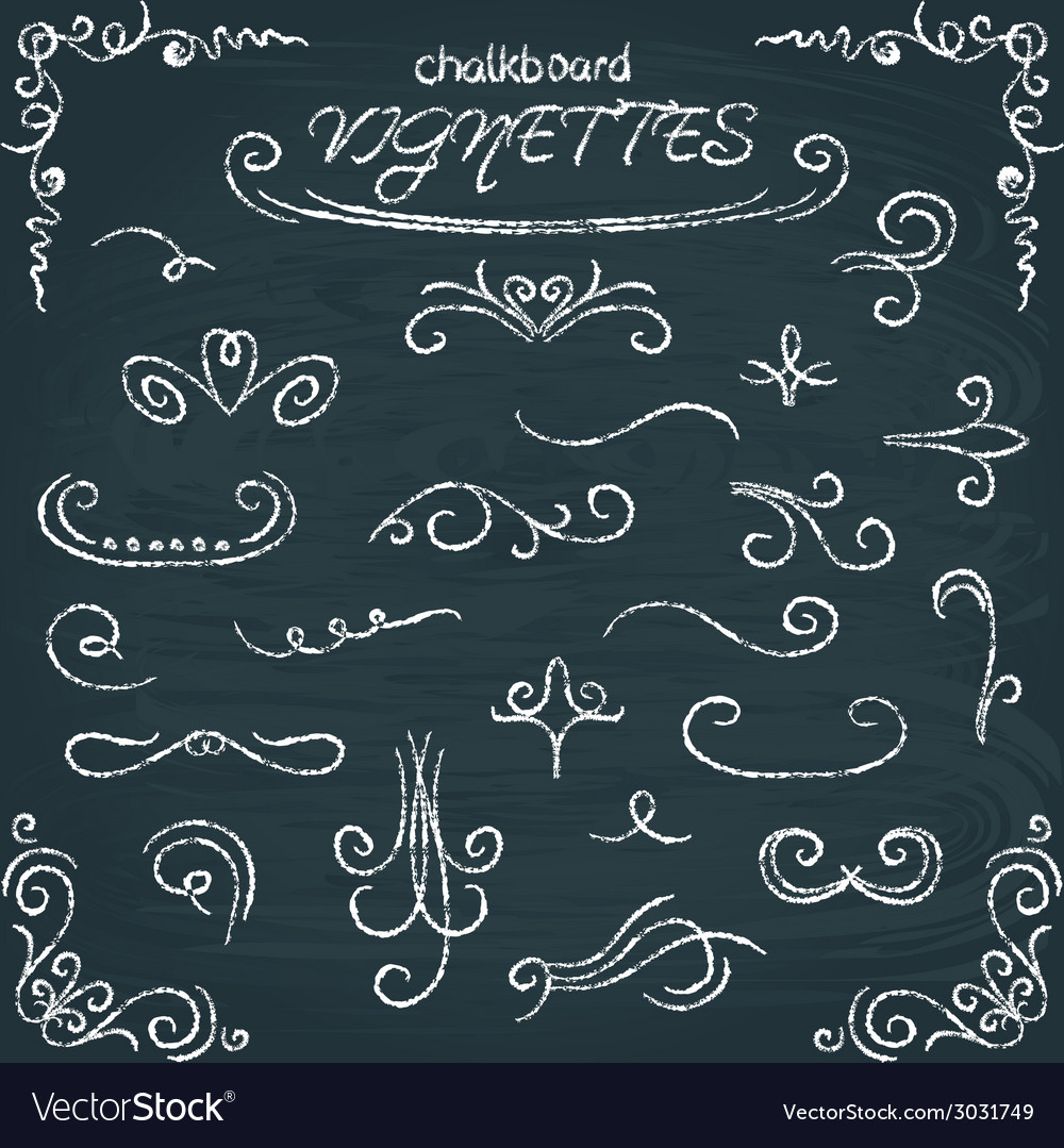 Collection chalkboard vignettes