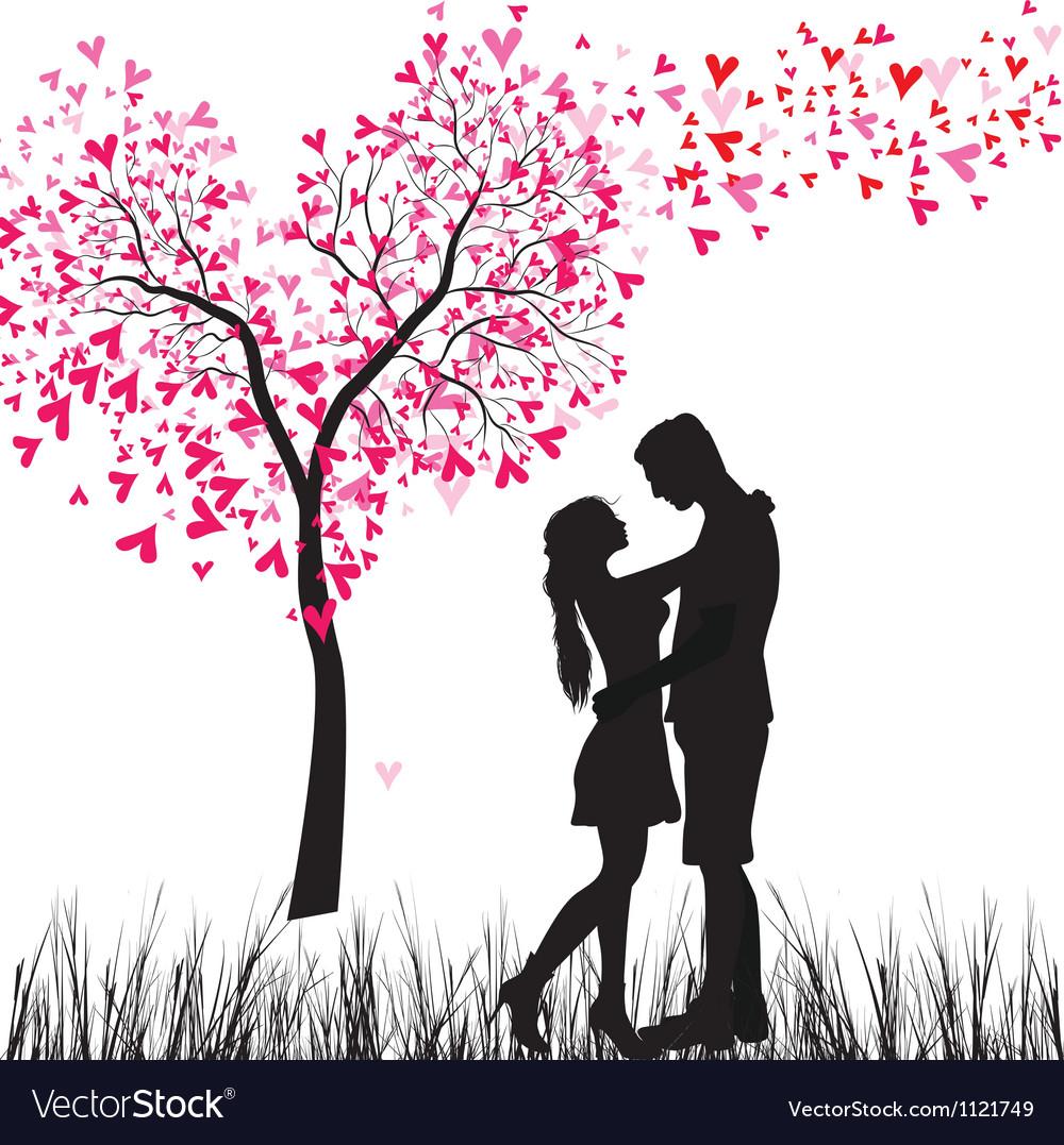Couple tree vector image