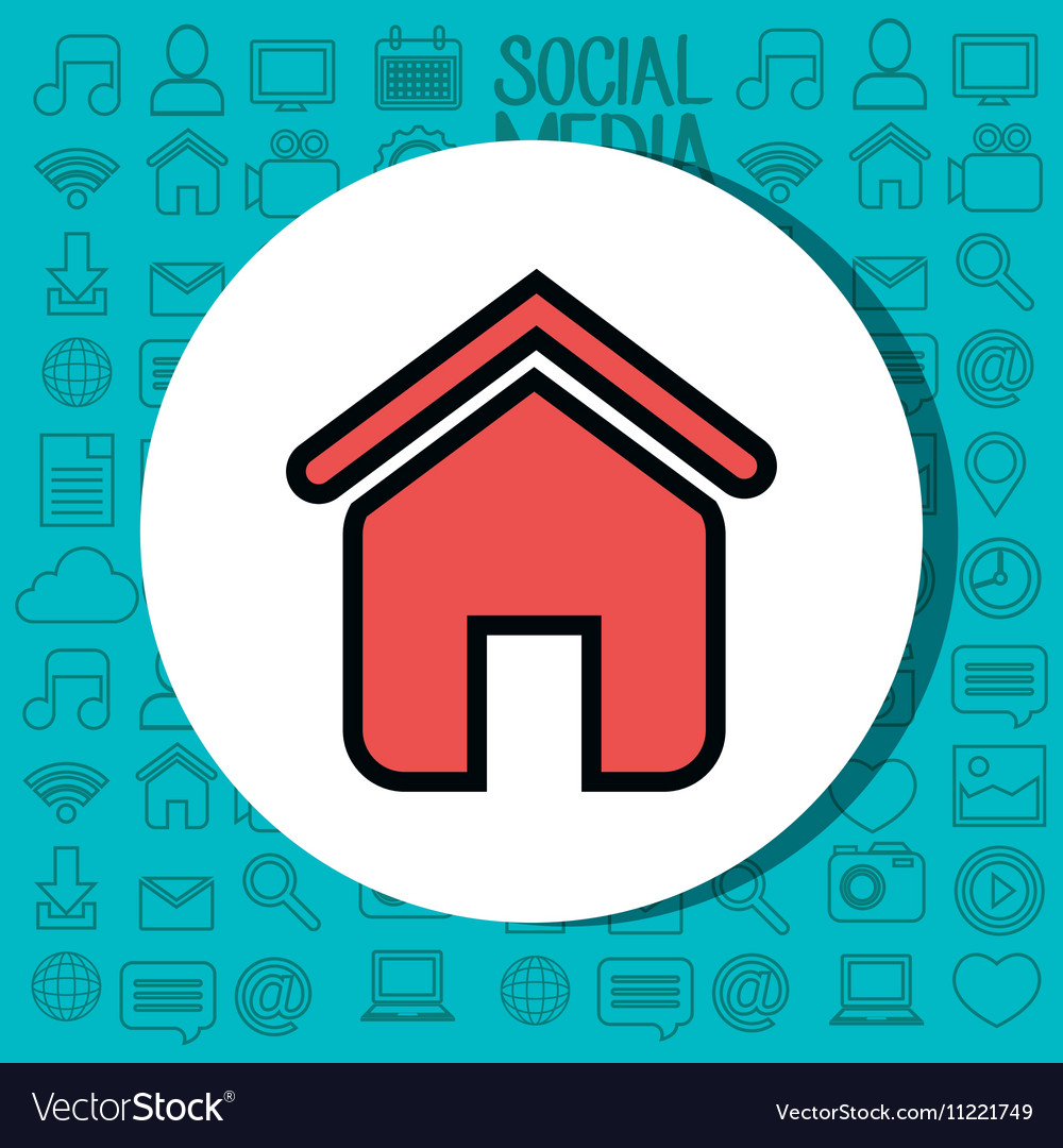 Home house silhouette isolated icon