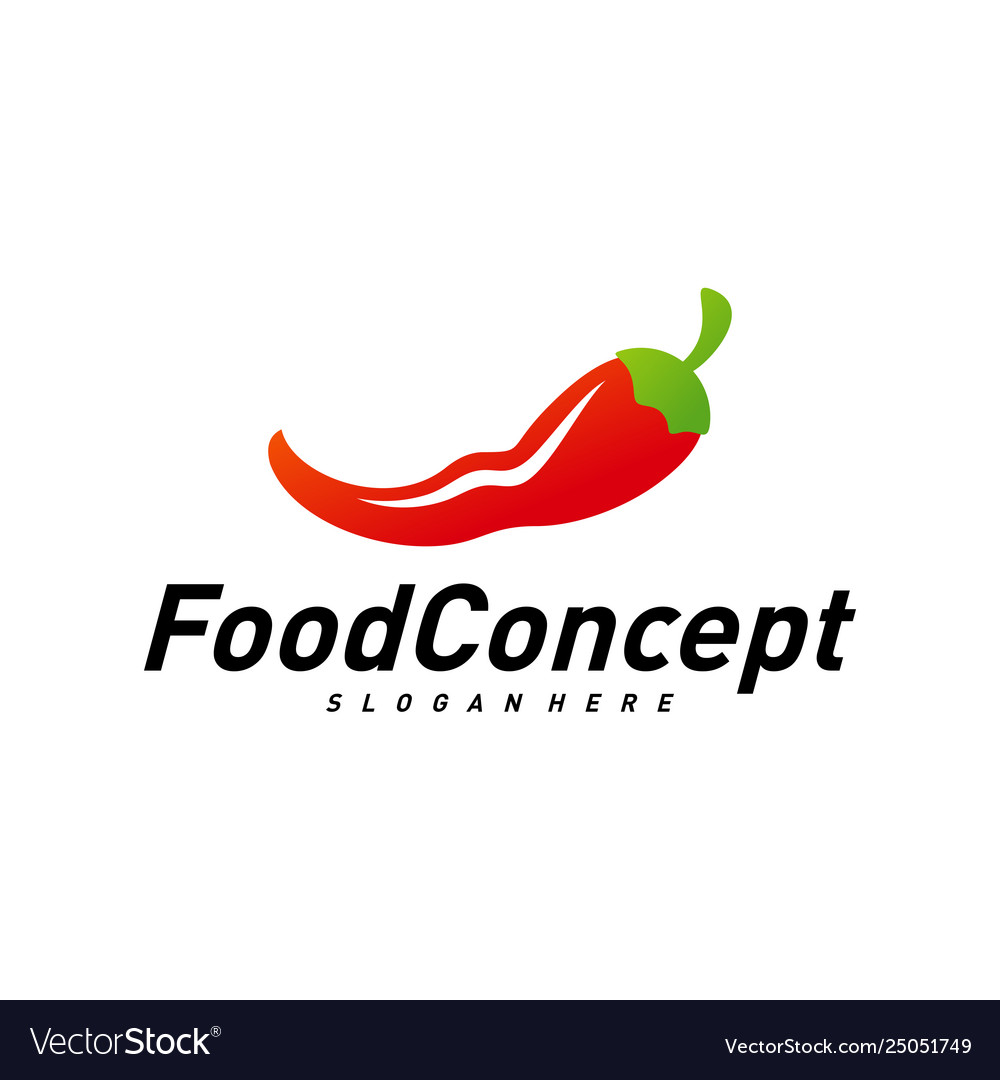 Hot Food Logo Concept Red Chili Logo Design