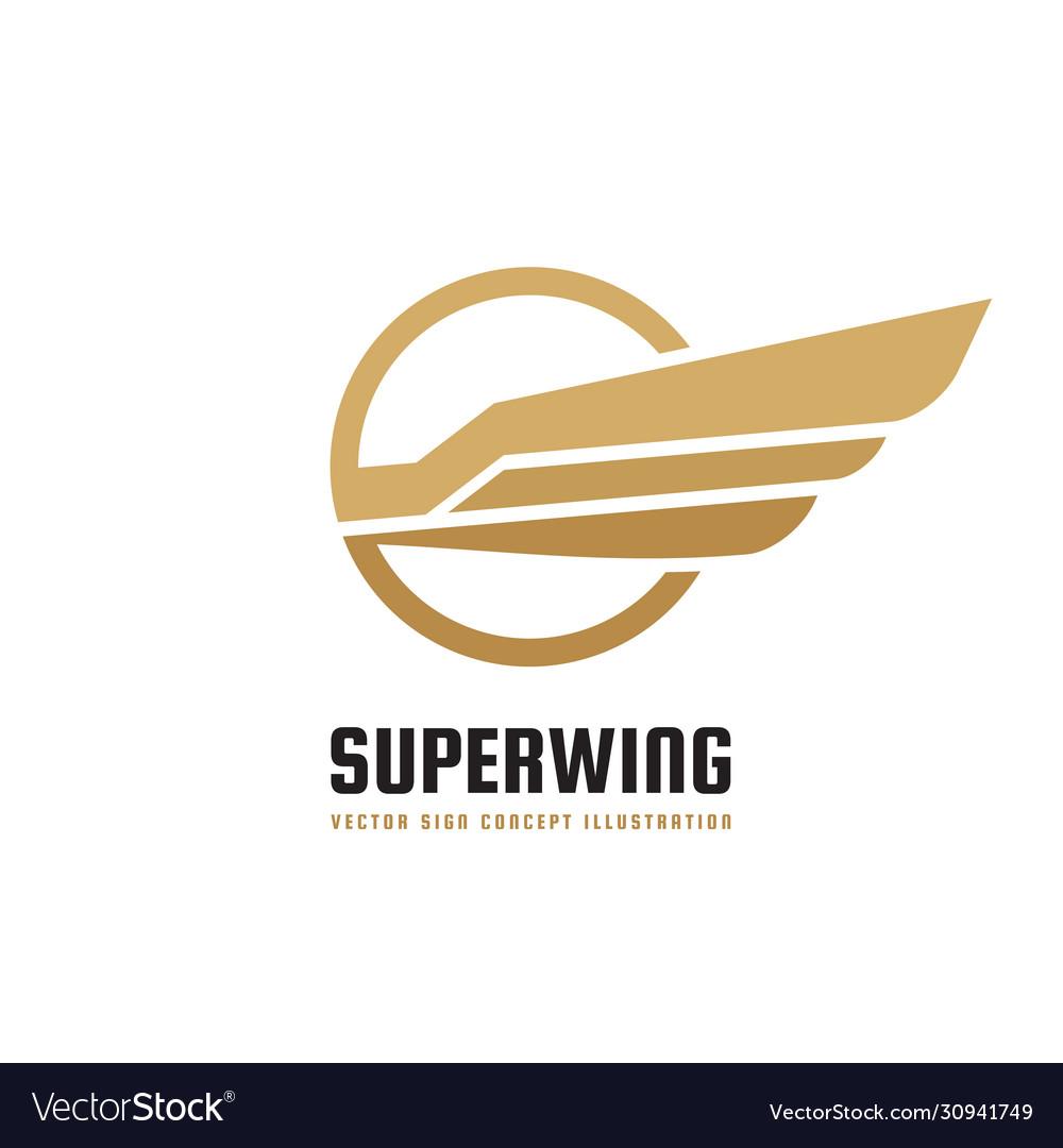 Super wing - logo template creative