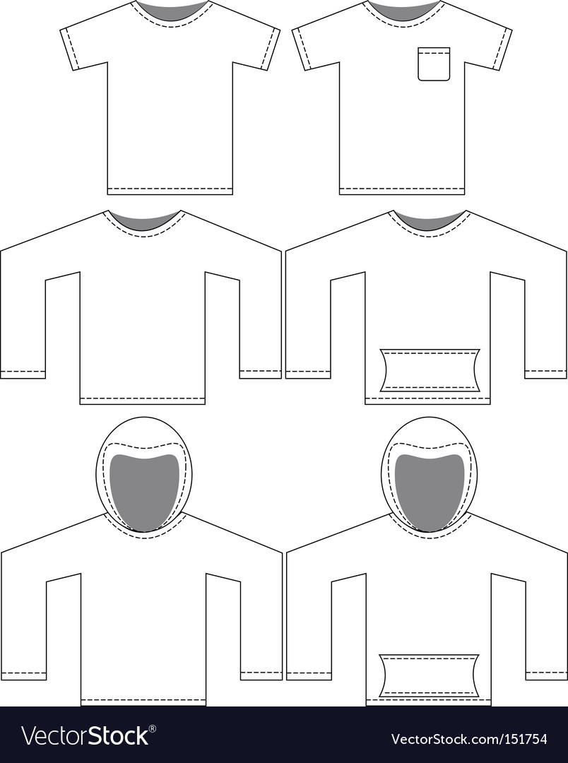 blank shirt tag. Set Of Blank Shirt Templates