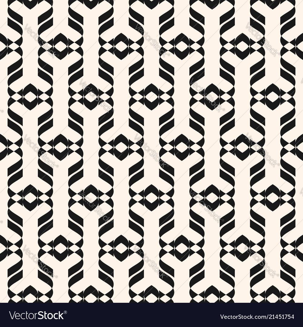 Abstract geometric ornament seamless pattern