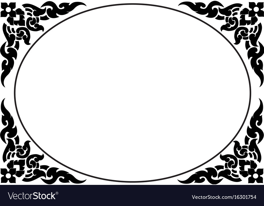 Frame of thai pattern