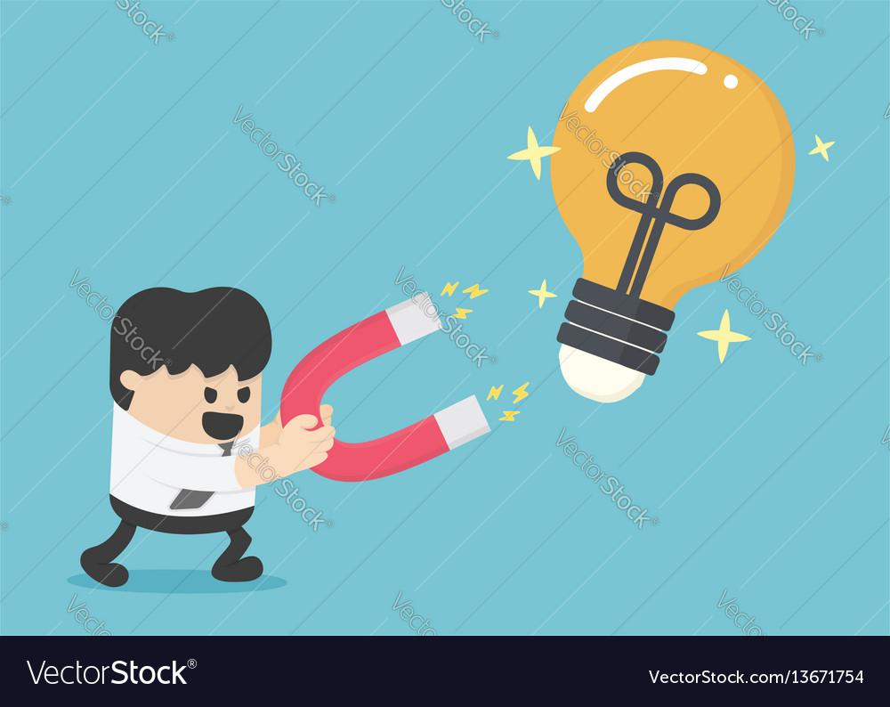 Gathering idea concept magnet lamp concept