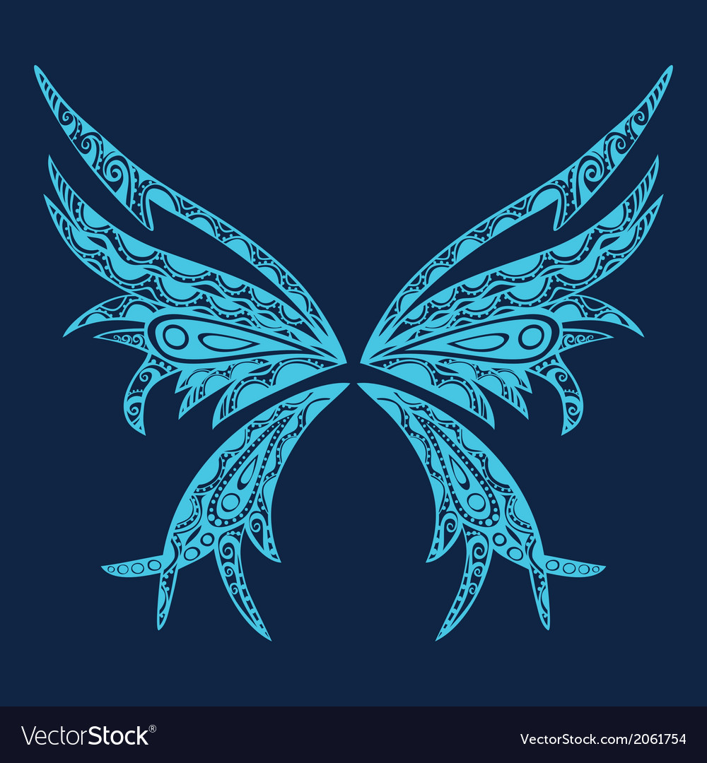 L abstract of butterfly Retro butterfly design