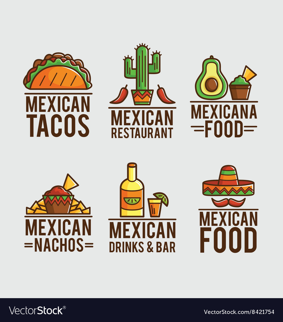 Mexican food logos