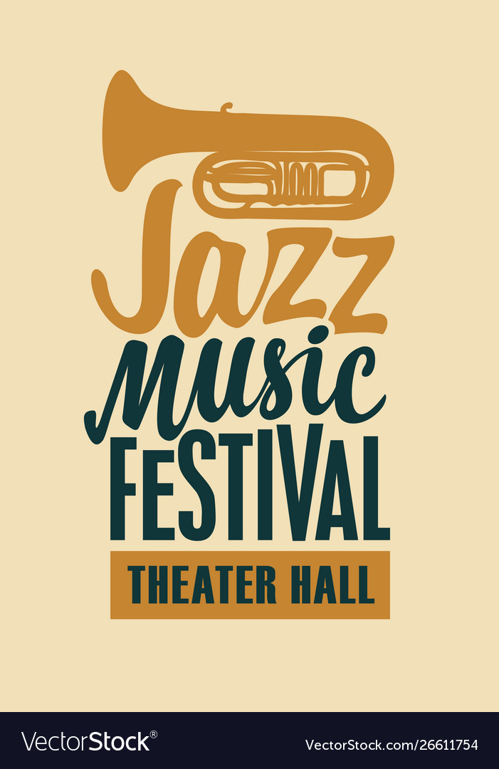 Poster for jazz music festival with saxophone